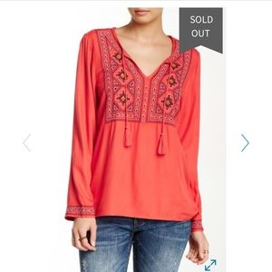 Lucky Brand | Embroidered Bid Tunic